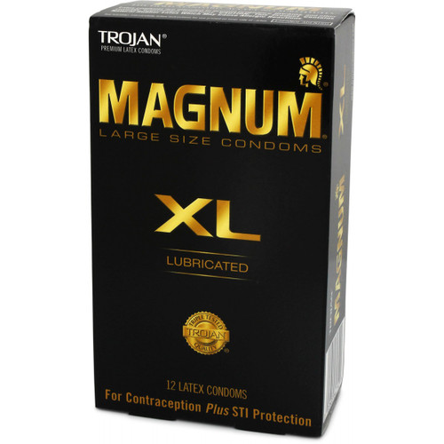 Trojan Magnum XL Lubricated Condoms 12 Pack