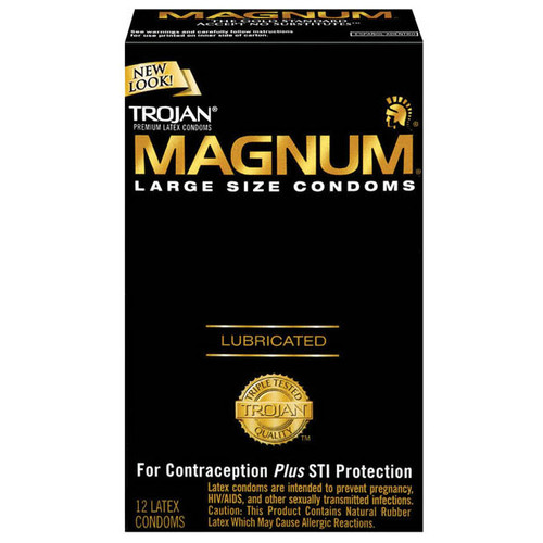Trojan Magnum Large Size Lubricated Condoms 12 Pack