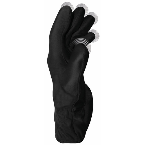 Fukuoku Five Fingers Vibrating Massage Glove Left Large Black