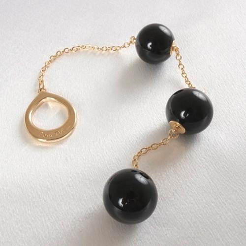 Sylvie Monthule Women's Gold Loop with Black Insertable Triple Geisha Balls