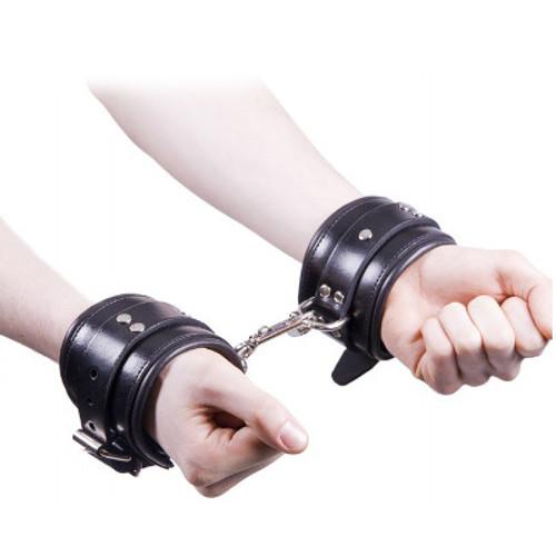 Rouge Garments Black Padded Leather Wrist Cuffs