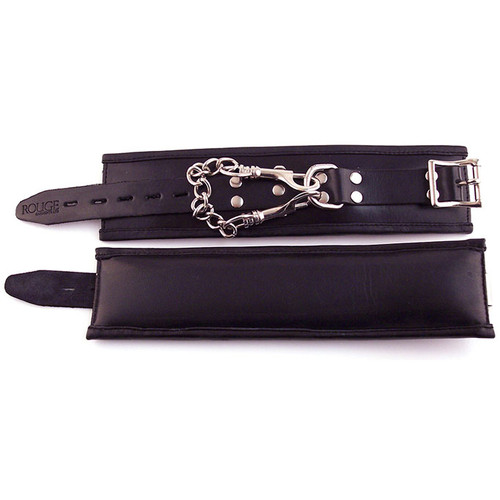 Rouge Garments Black Padded Leather Wrist Cuffs