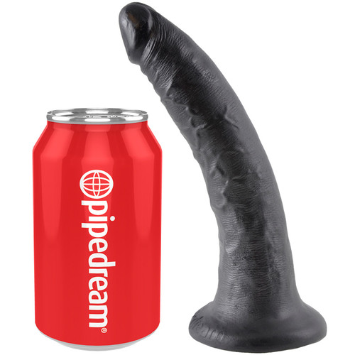 King Cock 7 inch Realistic Dong Black
