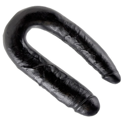 King Cock Large Double Trouble Realistic Double Dong Black