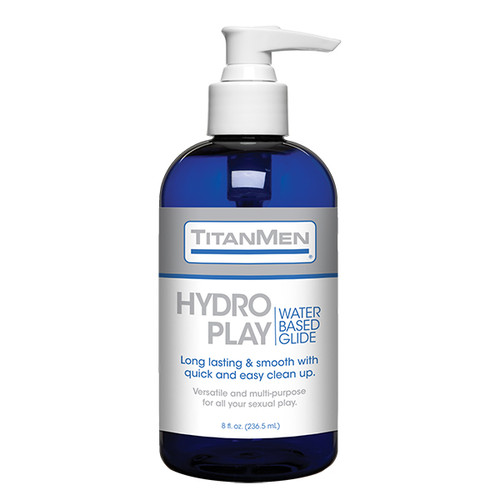 Buy the Hydro Play Water-Based Glide Lubricant in 8 oz Pump Bottle - Doc Johnson TitanMen