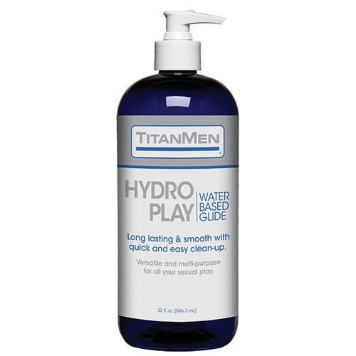 Buy the Hydro Play Water-Based Glide Lubricant in 32 oz Pump Bottle - Doc Johnson TitanMen