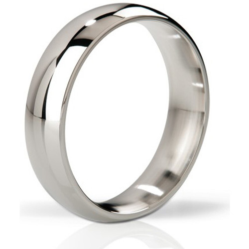 Mystim His Ringness The Earl Polished Stainless Steel Cock Ring 48mm