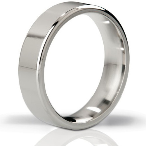 Mystim His Ringness The Duke Polished Stainless Steel Cock Ring 55mm