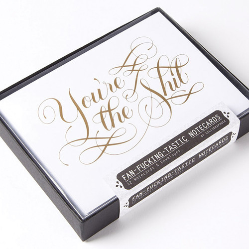 Calligraphuck Fan-fucking-tastic Notecards 12-pack