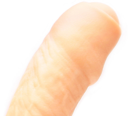 Tantus Uncut #2 Realistic Dual Density O2 Silicone Dong Cream