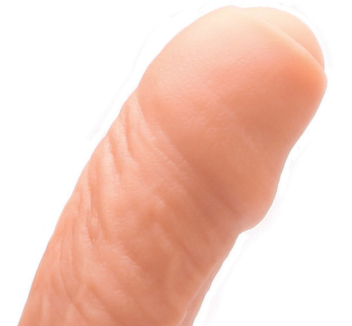 Tantus Uncut #2 Realistic Dual Density O2 Silicone Dong Cocoa