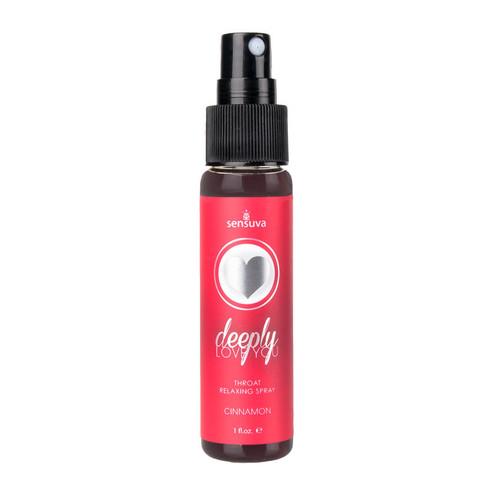 Sensuva Deeply Love You Throat Relaxing Spray Cinnamon 1 oz