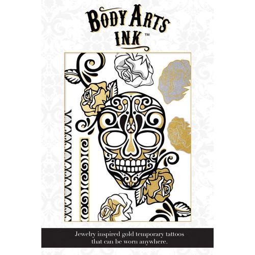 Body Arts Ink Maya Temporary Gold & Black Body Tattoo