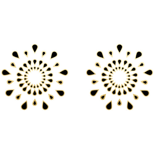 Body Arts Ink Pasties Black & Gold Foil Temporary Tattoos