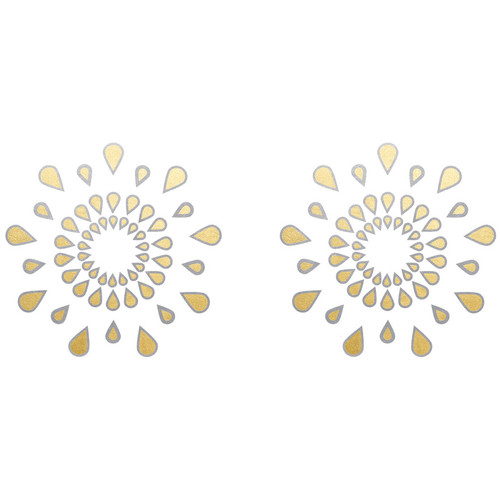 Body Arts Ink Pasties Silver & Gold Foil Temporary Tattoos