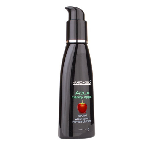 Wicked Sensual Care Aqua Candy Apple Flavored Water-based Lubricant 2 oz