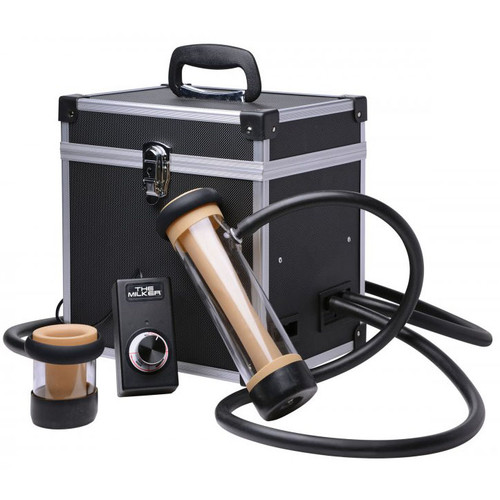 Buy the The Milker Dual Cylinder Automatic Deluxe Stroker Machine for Men - XR Brands LoveBotz