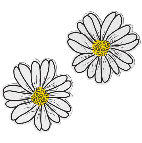 Pastease Wildflower White & Yellow with Black Flower Nipple Pasties
