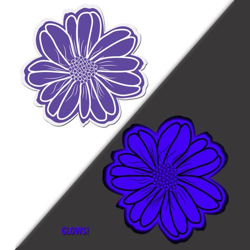 Pastease Wildflower Violet & Aqua Glowing Flower Nipple Pasties