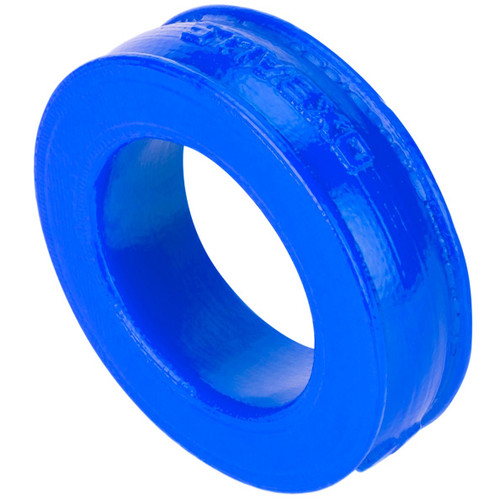 OXBALLS Pig-Ring Silicone Cock Ring Police Blue