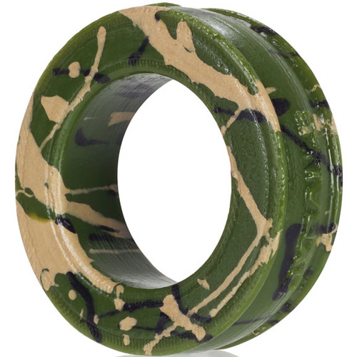 OXBALLS Pig-Ring Silicone Cock Ring Military Green Camo