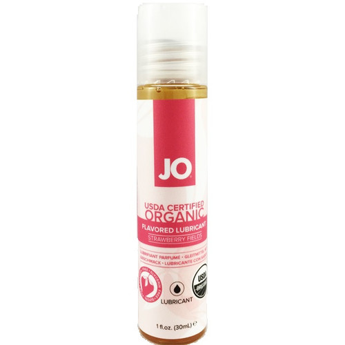 System JO Organic Naturalove Strawberry Fields Flavored USDA Certified Water-based Lubricant 1 oz