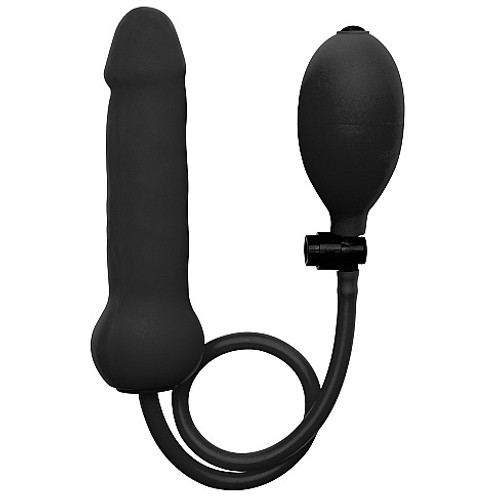Shots Ouch! Inflatable Silicone Dong Black