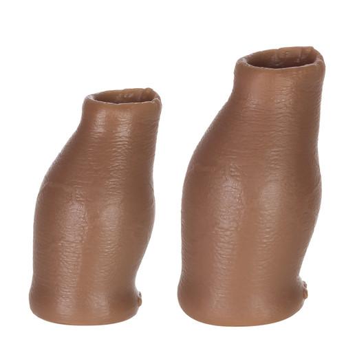 Buy the Hood MoreSkin Medium Tone Silicone Faux Foreskin Set Small/Medium Uncut Uncircumcised penis anteater - OXBALLS