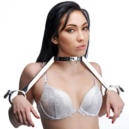 Master Series At Your Mercy Stainless Steel Neck to Wrist Restraints
