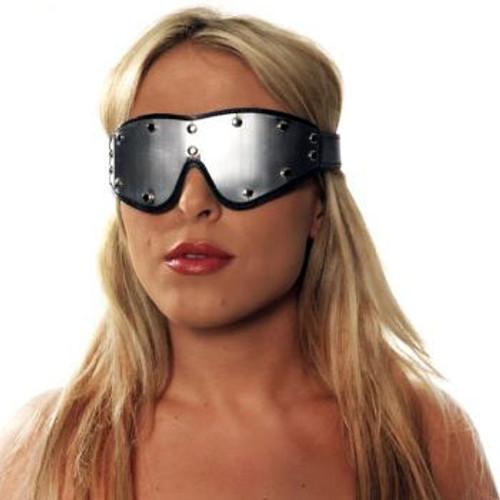 Rimba Erotic Fashion Leather & Metal Blindfold