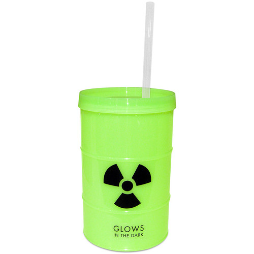 Kheper Games Glow-in-the-Dark Toxic Waste Barrel Cup 23 oz