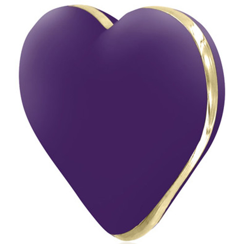 Rianne S Heart Rechargeable 10-function Massager Deep Purple