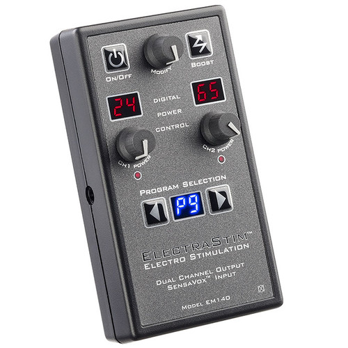 Buy the Sensavox EM140 Electro Stimulation Dual Channel Electrosex Power Box Kit - ElectraStim Cyrex Ltd