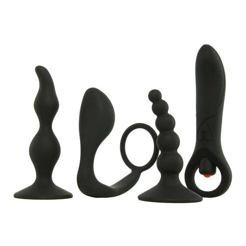 Buy the Intro to Prostate Kit p-spot butt plug anal sex beads silicone vibrating - Evolved Novelties Zero Tolerance
