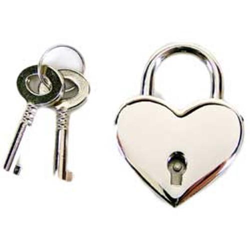 Heart Shaped Lock Nickel