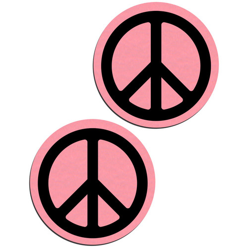 Pastease Baby Pink Peace Sign Nipple Pasties