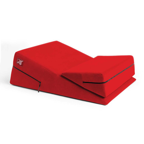Liberator Plus Size Wedge/Ramp Combo Position Pillow Flame Red
