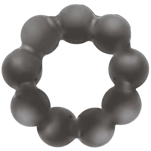 Rascal Toys The Baller 3X Stretch Silicone Beaded Cock Ring Grey