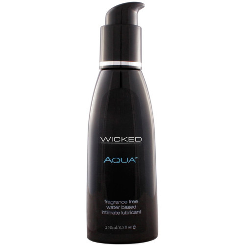 Buy the Aqua Fragrance-Free Water-based Intimate Lubricant in 8.5 oz enriched with Aloe & Vitamin E - Wicked Sensual Care Collection