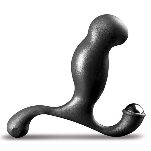 Buy the Excel Prostate Massager with Stainless Steel Roller Ball Perineum Stimulator in Black - Nexus Range