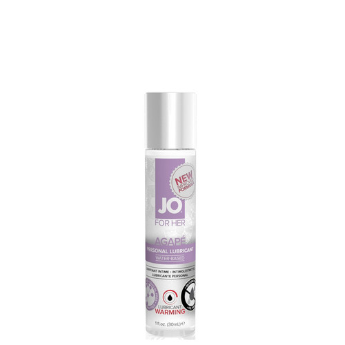 System JO for Her Agape Warming Water-based Lubricant 1 oz