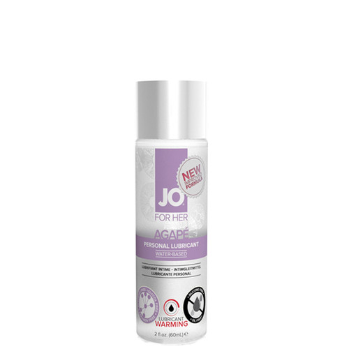 System JO for Her Agape Warming Water-based Lubricant 2 oz