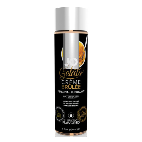 System JO Gelato Creme Brulee Water-Based Flavored Lubricant 4 oz