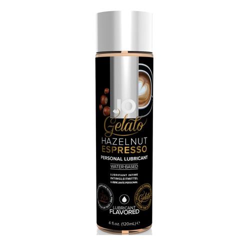 System JO Gelato Hazelnut Espresso Water-Based Flavored Lubricant 4 oz