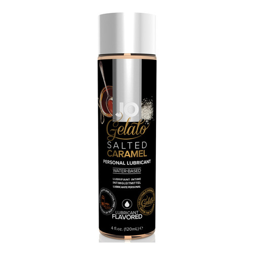 System JO Gelato Salted Caramel Water-Based Flavored Lubricant 4 oz