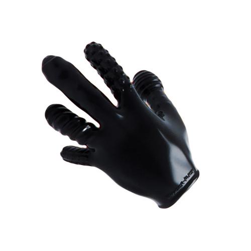 OXBALLS Finger F ck Textured Unisex Glove Black