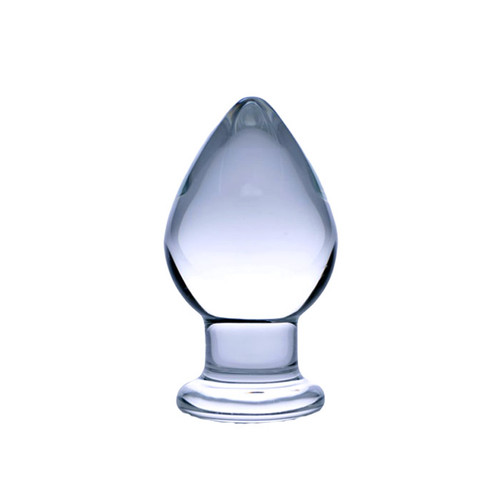 Prisms Erotic Glass Molten Wide Weighted Tapered Anal Plug