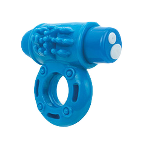 Screaming O Charged oWow 10-FUNction Rechargeable Silicone Ring Vibe Blueberry