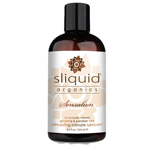 Sliquid Organics Sensation Aloe Water-based Stimulating Intimate Lubricant 8.5 oz