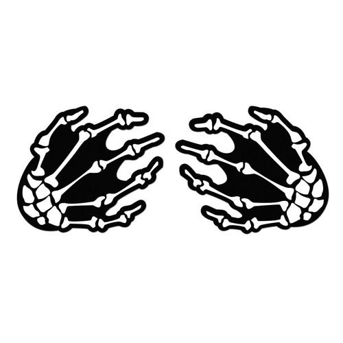 Pastease White Boney Skeleton Hands on Black Nipple Pasties